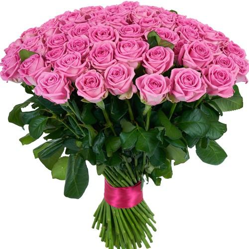 Купить на заказ Букет из 101 розовой розы с доставкой в Шаре