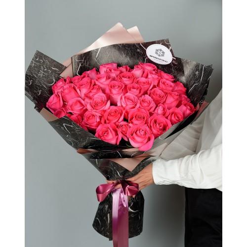 Купить на заказ Букет из 51 розовых роз с доставкой в Шаре