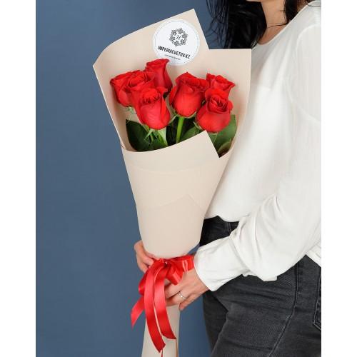 Купить на заказ Букет из 7 роз с доставкой в Шаре